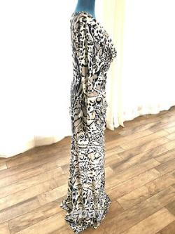 $1650 NWT Auth. Roberto Cavalli Maxi Full Length Leopard/Animal Print Fit & Flare