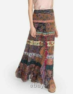 $455 Johnny Was Selva Mesh Maxi Skirt Sz Large Fits XL Too Incredible Details