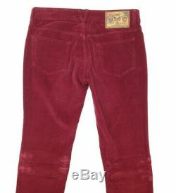 $650 NEW DOLCE & GABBANA Women's TIGHT FIT RED CORDUROY 5 POCKET PANTS SIZE 2/25