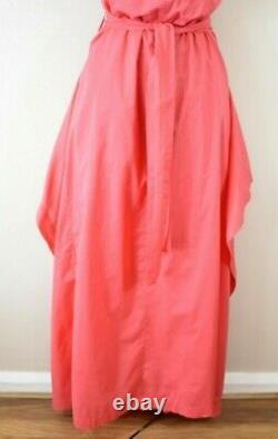 £770 VIVIENNE WESTWOOD ZETA 44 Coral Fit & Flare Cotton Wedding Party Maxi Dress