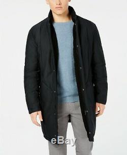 $900 Dkny Men's Blue Slim Fit Puffer Zip Snap Button Jacket Winter Coat Size 40R