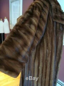 AJ Gervais stunning full length mink coat Female pelts fits XL-2X