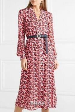 ASO Kate Middleton Michael Kors Dress Red/Blue Floral print Size M fits10/12