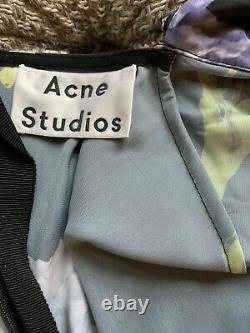 Acne Studios Women's Dilona Floral Print Satin Dress Size 34 to Fit UK 8/10/12