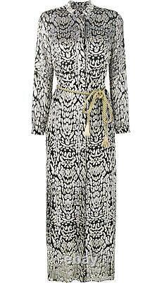 Adam Lippes Devoré Leopard Print Chiffon Maxi Dress Us 6 Uk 10