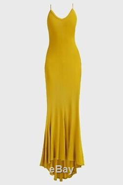 Alexandre Vauthier Mustard Yellow Sleeveless Fitted Maxi Dress FR 40/UK 12. SS19
