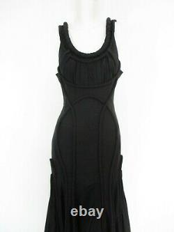 All Saints Appeley Maxi Dress Black Hourglass Fishtail Gothic 8 Bnwt £395 Boxed