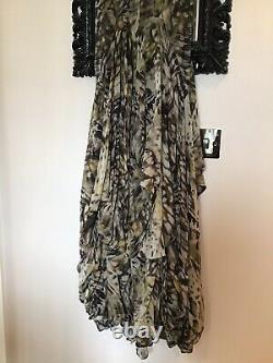 All Saints Silk Parachute Hitch Katana Maxi Dress Fit Size 6-10