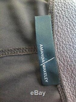 Amanda Wakeley Maxi Fitted Long Sleeve Evening Dress, Size 12