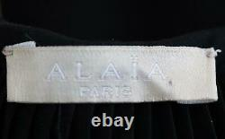 Azzedine Alaïa Laser Cut Pleated Cotton Blend Maxi Skirt Fr 38 Uk 10