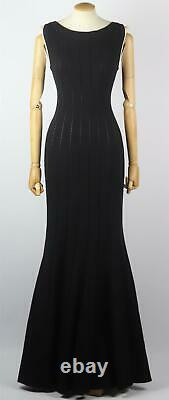 Azzedine Alaïa Ribbed Wool Blend Maxi Dress Fr 42 Uk 14