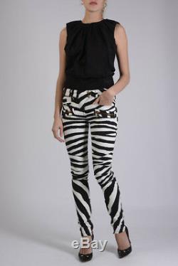 BALMAIN New Woman Stretch Denim Skinny Fit Jeans Pants Trouser Size 34 fra $1700