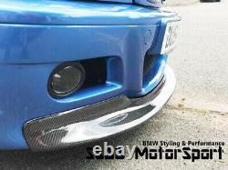 BMW E46 M3 CSL Carbon Fibre Front Splitter Full Length for M3 Bumper UK Stock