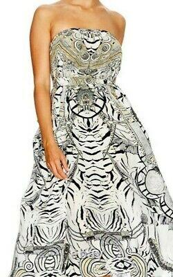 BNWT Elegent Fitted Camilla Franks WILD BELLE Long strapless Dress S Uk 10