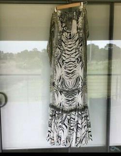 BNWT Elegent Fitted Camilla Franks WILD BELLE Long strapless Dress S Uk 10