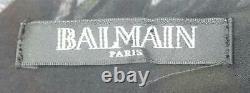 Balmain Off The Shoulder Ruffled Printed Silk Chiffon Maxi Dress Fr 38 Uk 10