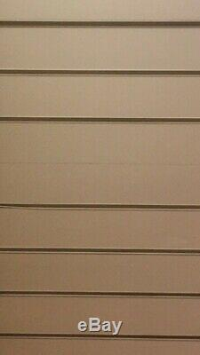 Bargain Slat Wall Board Shop Display + Chrome Fittings & 10 Full Length Mirrors