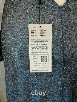 Bnwt Gina Cerruti Blue Sparkle Gown, 7195r Uk Size 6-8, Xs
