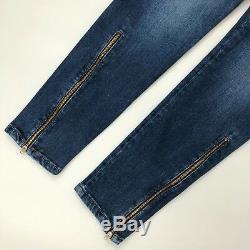 Brunello Cucinelli Ladies Slim Fit Blue Denim Trousers Jeans Size S IT42 US2 4