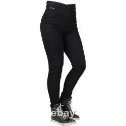 Bull-It Fury II SP45 Skinny Fit Black Ladies Motorcycle Jeggings Armour Women 12