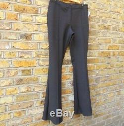 Burberry London Women's Black Fit & Flare Trousers Pants Size UK 14 W 34 L 36