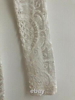 Burberry Prorsum White Lace Fitted Maxi Dress Uk8-10 Bnwt