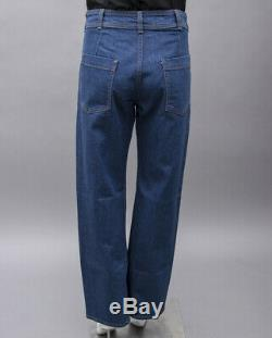 CREATURES OF COMFORT Blue Denim High Waisted Tapered Relaxed Fit Pants Jeans 6