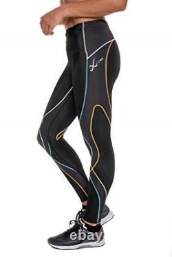 CW-X Womens Mid Rise Full Length Stabilyx Compression Legging Tights, Rainbow
