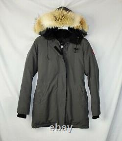 Canada Goose Women's Victoria Gray Parka Winter Jacket XS Slim Fit Coat Fur Down