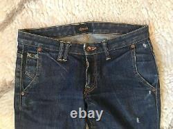 Chimala Japanese Denim Destroyed Slim Fit Blue Jeans Size 26