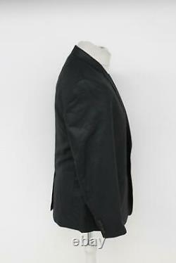 DOLCE & GABBANA Men's Fitted Black Grey Single Breasted Pinstripe Suit UK40