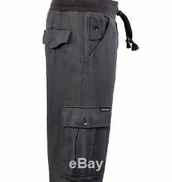 DOLCE & GABBANA Military Style Gym Sport Trousers Pants Cotton Khaki 04125