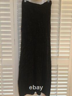 DRIES VON NOTEN Black Mijoux Lurex Maxi Skirt Size M Fits UK 12-14