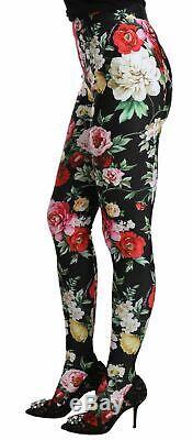 Dolce&Gabbana Leggins Multicolor Nylon Floral Slim Fit Casual Skinny Pants IT 42