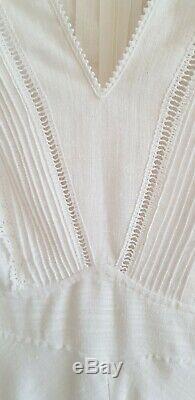 Dress 12 fits 10 Wedding maxi SEVENTIES 1970 Vintage DAVID BUTLER BY PRESSLER