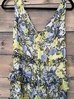 ERDEM Floral Silk Print Maxi Dress Sample but would fit UK 10