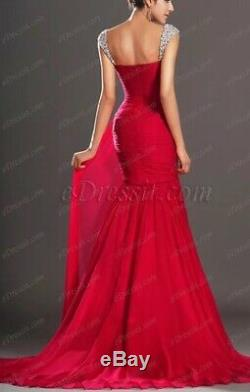 Edressit Bnwt Red Mermaid Sweetheart Dress. Fits Uk Size 8