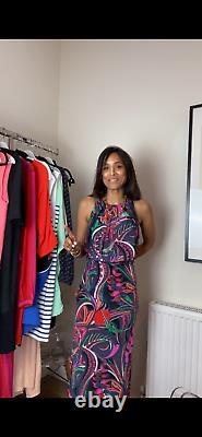 Emilio Pucci Silk Maxi Dress Size UK 14 Fit a Uk 10 12 100% Silk