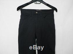 FENDI black jeans pants zucca monogram ladies vintage zucca FF 26 28 tapered fit