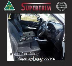 FRONT Full Length +Pocket + REAR Seat Cover fit Nissan Navara NP300 Neoprene