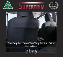 FRONT Full-length Seat Covers fit MY16 Toyota Hilux Premium Neoprene Waterproof