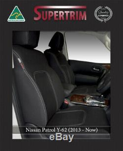 FRONT Seat Covers Full-Length with Map Pockets Custom Fit Nissan Patrol Y62