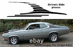 Fits 1970-1976 DUSTER Custom race stripes from NOSE TO TAIL DIY decal kit