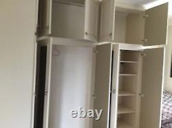 Fitted 5 Door mirrored L shape full height Wardrobe