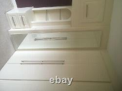 Fitted wardrobes, white, metal handles, full length mirror