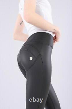 Freddy WR. UPShaping Effect High Waist Women Pants Skinny Fit Faux Leather Black