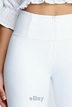 Freddy Wr. Up Shaping Effect High Waist Pants, Skinny Fit, Faux Leather White