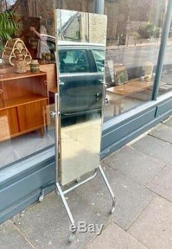 Free Standing Full Length Chrome Shop Fitting Mirror Collection N1 4NJ