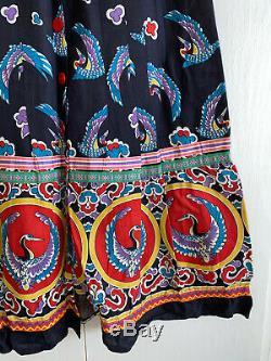 GIORGIO SANT ANGELO Folkloric Vintage 70s Skirt, 10 (fit 2-4)