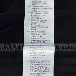 GUCCI PANTS SKINNY FIT LEATHER DETAIL BLACK TROUSERS $1,150 sz IT 42 US 6